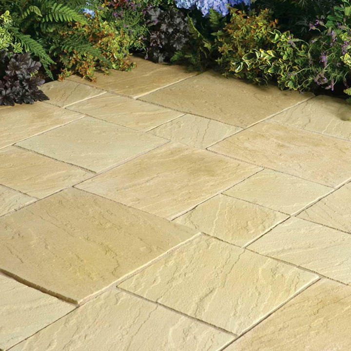 Abbey Paving Random Patio Kit - 10.22m2 York Gold