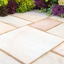 Natural Sandstone Patio Kit - 5.5m2 Scottish Glen