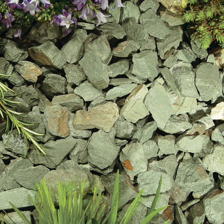 Green Slate Chippings - Bulk