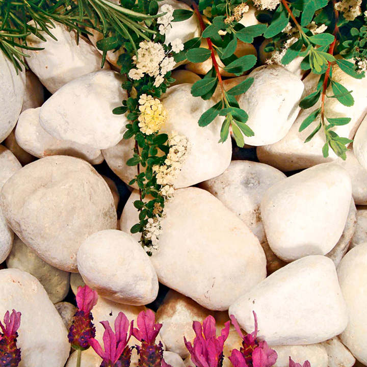 Pearl White Cobbles - Bulk