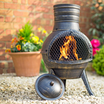 Squat Cast & Steel Chimenea
