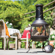 Our chimenea whirl sea blue and red whirl clay is an exceptional, handmade product that will look remarkable on a summers evening adding the homely gl