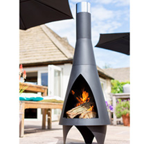 This stunning chimenea is great as a garden sculpture as well as a patio fire. The Colorado chimeneas clean lines and modern designs mean that this ch
