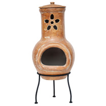 Flower Cut Out Small Chimenea