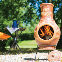 Keep Warm Copper-effect Chimenea