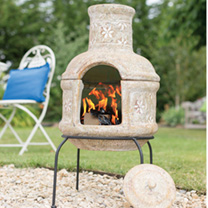 Star Flower with Grill Small Chimenea