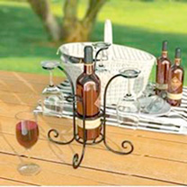 Wine Bottle & Glass Caddy