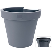 Brighten up unsightly drainpipes with these great flowerpots. fit to the drainpipe with the bracket supplied and plant. Diameter 235mm.