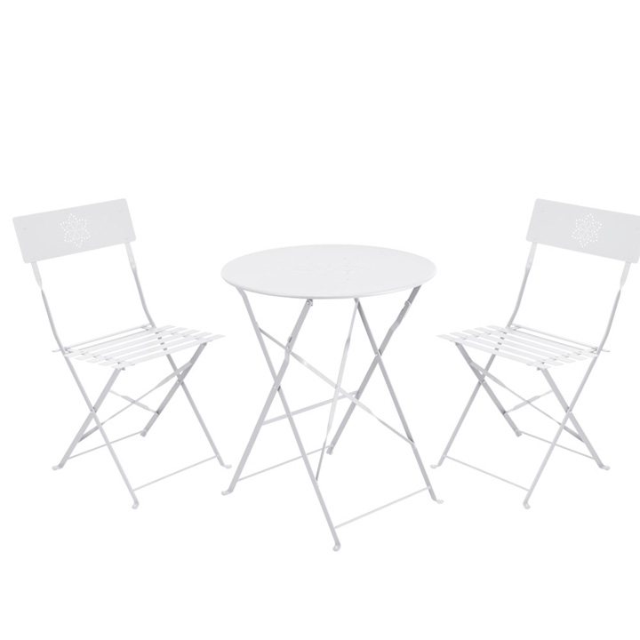 Garden Bistro Set - Matt White