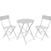 Garden Bistro Set - Matt Grey