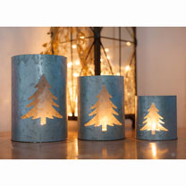 Fir Tree Tea Light Holders (Set of 3)