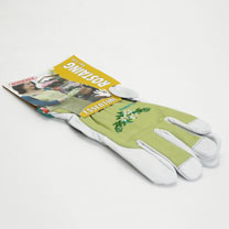 Gardening Gloves - Ladies Essential Embroidered Cotton Size 8