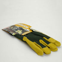 Gardening Gloves - Gents Essential Cotton/Suede Leather Size 8