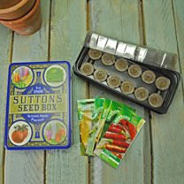 Seed Tin, Propagator and Veg Seed Offer