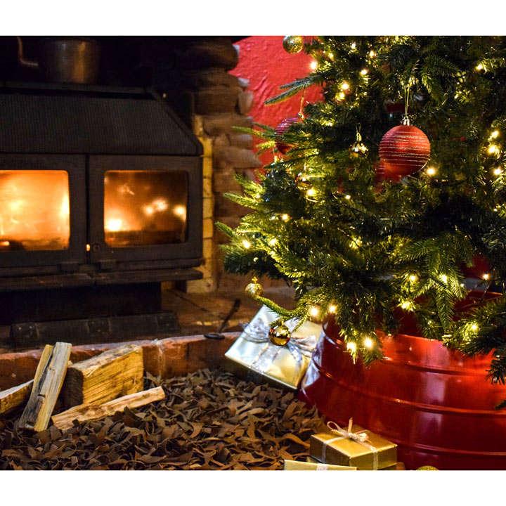 Christmas Tree Skirt Metal - Gold