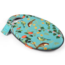 Super comfortable Kneelo Kneeler with memory foam technology, printed with the elegant Flora and Fauna illustration.