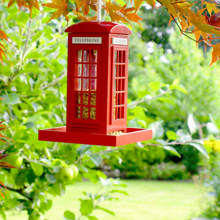 Seed Feeder - Telephone Box