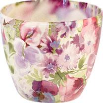 Floral Planter - Violet