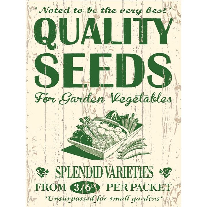 Metal Sign - Seeds