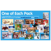 One of Each Christmas Card Pack