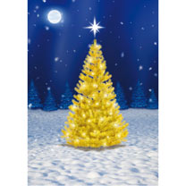 Sparkling Tree Christmas Cards