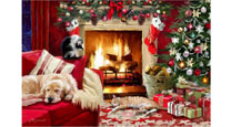 Fireside Glow Christmas Cards