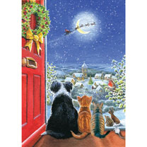 Here Comes Santa Christmas Cards