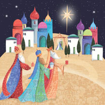 Three Kings - Christmas Cards
