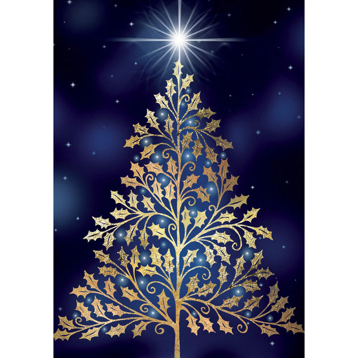 Golden Tree - Christmas Cards
