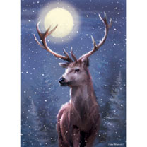 Winter Stag Cards