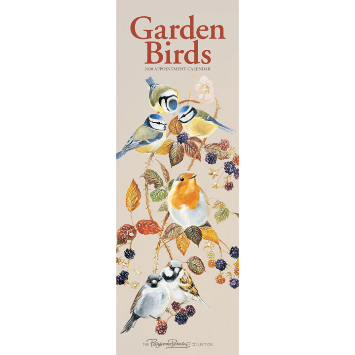 Slimline Calendar - Garden Birds