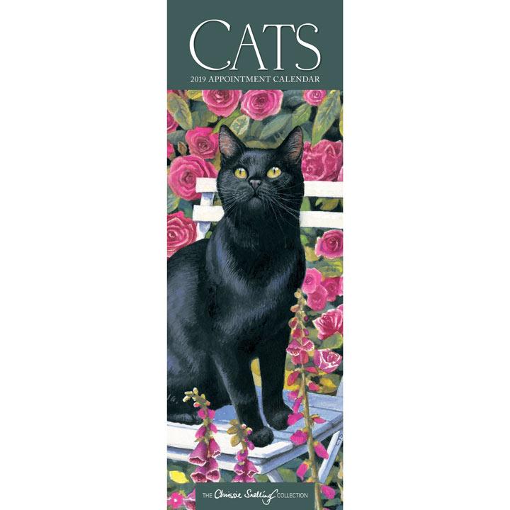 Slimline 2019 Calendar - Chrissie Snelling Cats