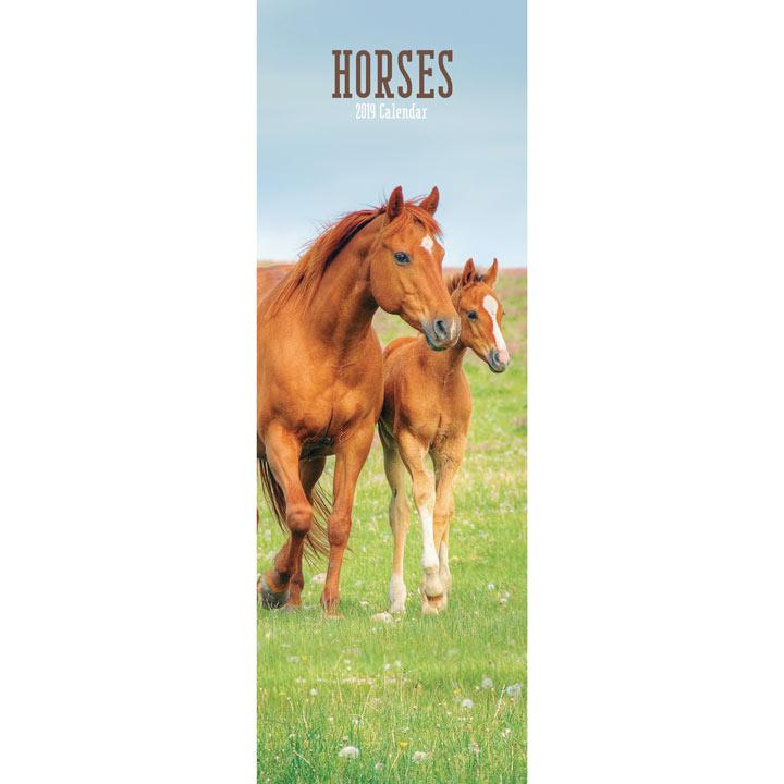 Slimline 2018 Calendar - Horses