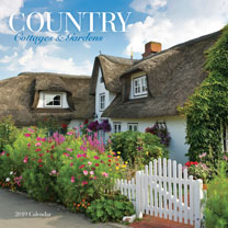 Country Cottages and Gardens Wall Calendar