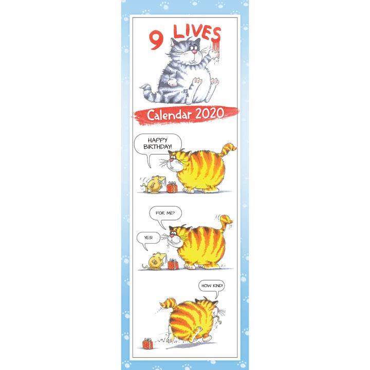 Slimline Calendar - 9 Lives