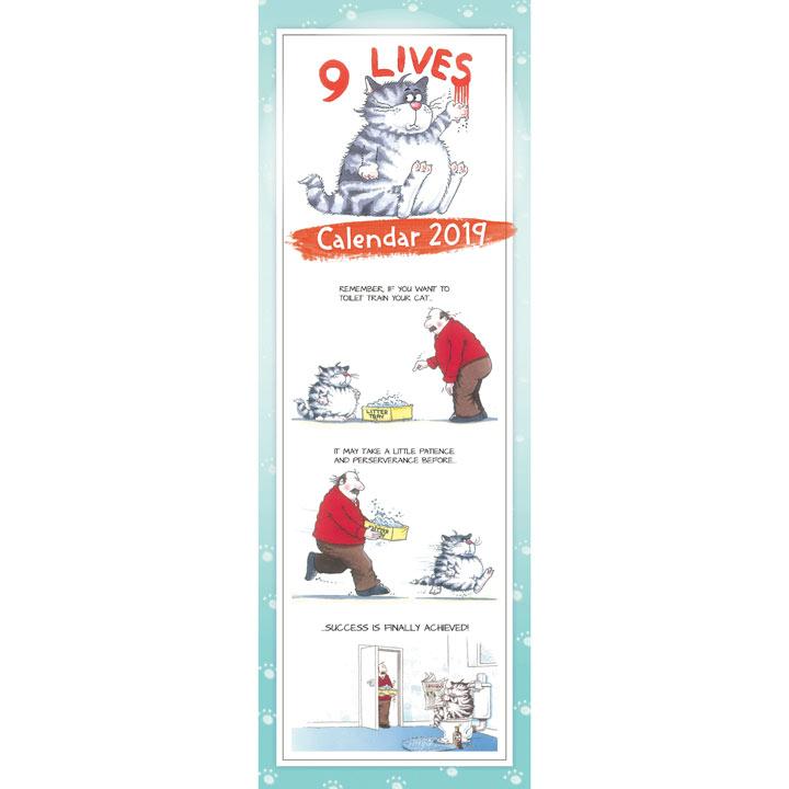 Slimline 2018 Calendar - 9 Lives