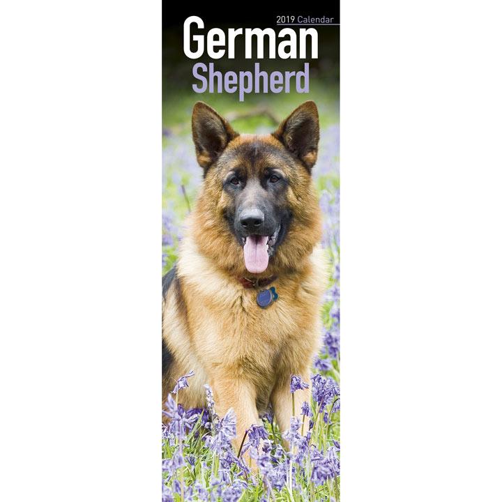 Slimline 2018 Calendar - German Shepherd