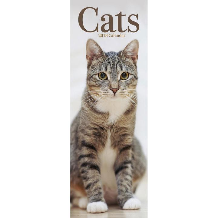 Slimline 2018 Calendar - Cats
