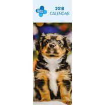 Blue Cross Slimline Calendar