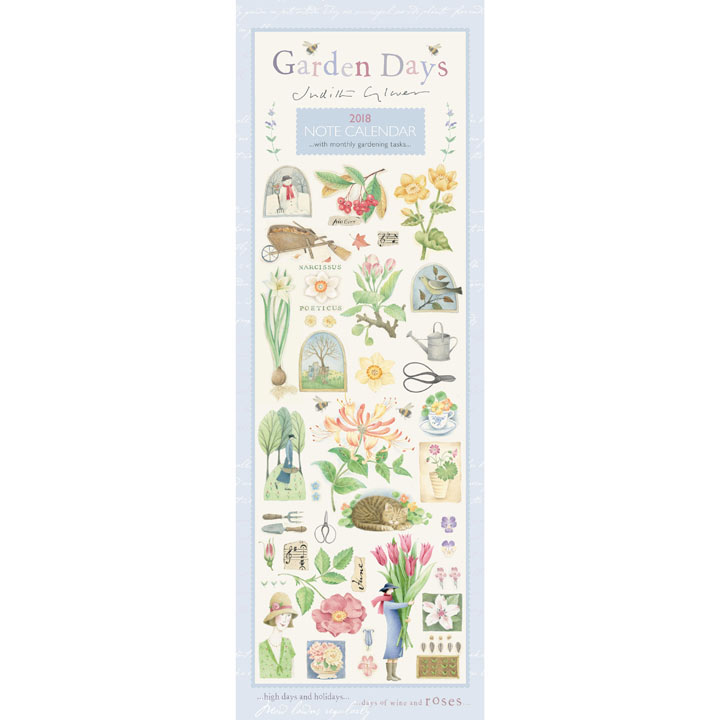 Slimline 2018 Calendar - Garden Days