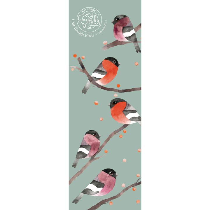 Slimline 2018 Calendar - Our British Birds