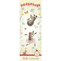 Slimline 2018 Calendar - Hedgehugs