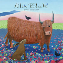 Wall Calendar - Ailsa Black