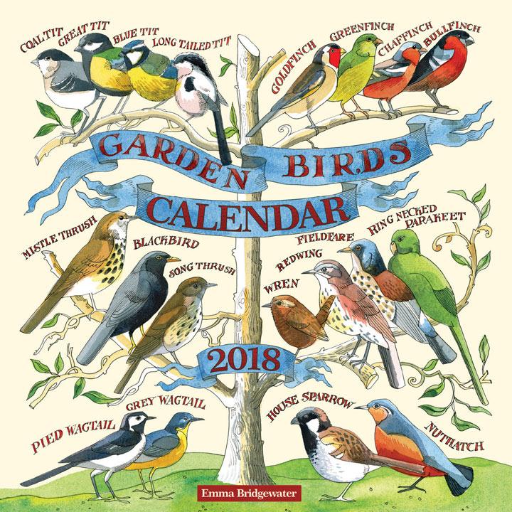 Wall Calendar - Garden Birds