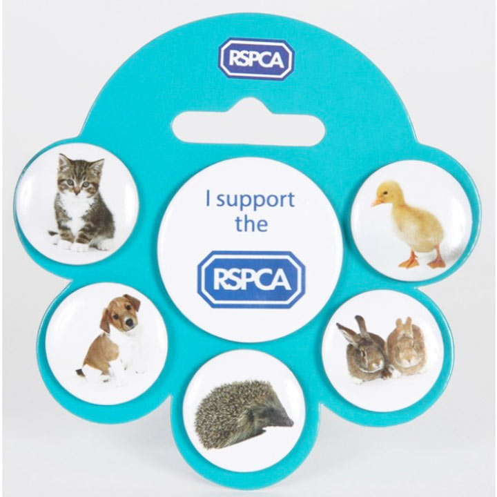RSPCA Buttons Badge Set
