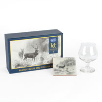 RSPCA Brandy Glass & Coaster