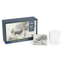 RSPCA Whisky Glass & Coaster