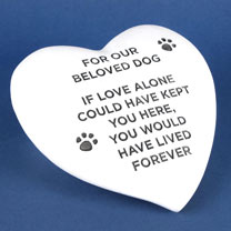 RSPCA Memorial Stone Heart - Dog