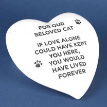 RSPCA Memorial Stone Heart - Cat