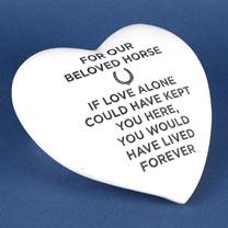 RSPCA Memorial Stone Heart - Horse